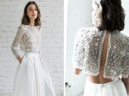 6fc7f4342b00 Svadobné šaty s dlhým rukávom